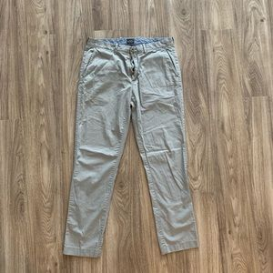Jcrew grey chinos - light weight